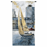 Sailing in the Afternoon Wall Tapestry