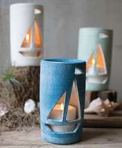 Sailing Seas Candle Luminaries - Set of 3