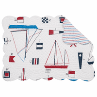 Sailing Seas Scalloped Placemats - Set of 6