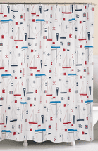 Sailing Seas Shower Curtain