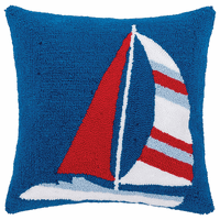 Sailing Stripes Hooked Pillow