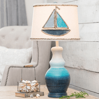 Sailing Through Blue Waters Table Lamp