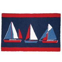 Sailing Trio Hooked Rug - OVERSTOCK