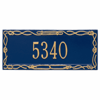 Sailor's Knot House Number Plaque - Blue & Gold