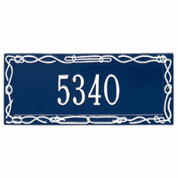 Sailor's Knot House Number Plaque - Blue & White