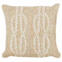 Sailor's Knotty Natural Indoor/Outdoor Pillow