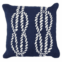Sailor's Knotty Navy Indoor/Outdoor Pillow