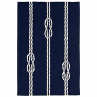 Sailor's Knotty Navy Indoor/Outdoor Rug Collection