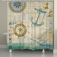 Sailor Script Shower Curtain