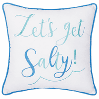 Salty Beach Embroidered Pillow