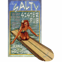 Salty Surfer Cut Up Wood Signs