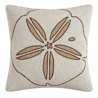 Sand Dollar Beaded Pillow