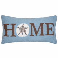 Sand Dollar Hello Hooked Pillow