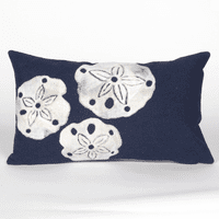 Sand Dollar Navy Pillow - 12 x 20