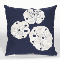 Sand Dollar Navy Pillow - 20 x 20