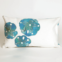 Sand Dollar Pearl Pillow - 12 x 20