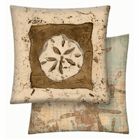 Sand Dollar Reversible Vinyl Pillow - 18 x 18