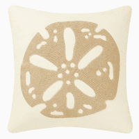 Sand Dollar Rice Stitch Pillow