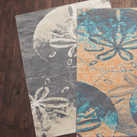 Sand Dollar Shadows Charcoal Rug Collection