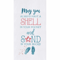 Sand in Your Shoes Flour Sack Towels - Set of 6