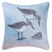 Sand Piper & Shells Indoor/Outdoor Pillow