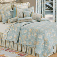 Sand Shell Beach Quilt Bedding Collection
