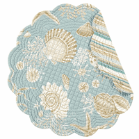 Sand Shore Round Placemats - Set of 6