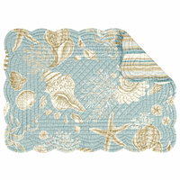 Sand Shore Scalloped Placemats - Set of 6