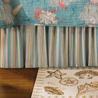 Sand Shore Striped Bedskirt - Queen - OUT OF STOCK