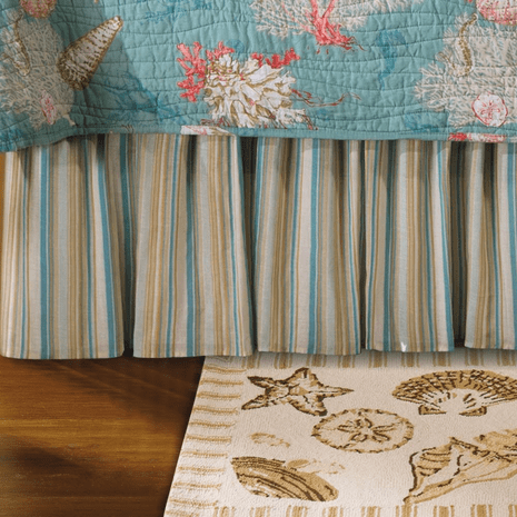 Sand Shore Striped Bedskirt - Twin