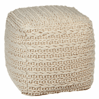 Sandalfoot Cove Textured Pouf