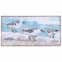Sandpiper Iron Wall Art