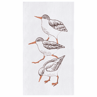 Sandpipers Flour Sack Kitchen Towels - Set of 12