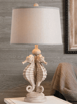 Sandstone Seahorse Table Lamp