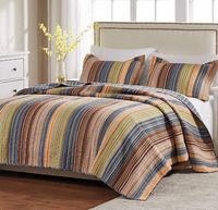 Sandy Beach Stripe 2-Piece Quilt Set - Twin