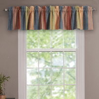 Sandy Beach Stripe Quilted Valance