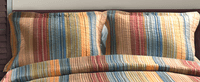 Sandy Beach Stripe Standard Sham