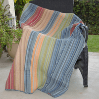 Sandy Beach Stripe Throw