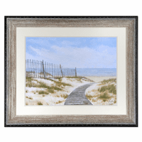 Sandy Seagrass Stroll Framed Print
