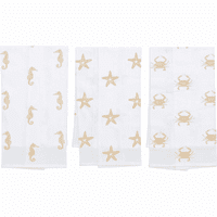 Sandy Seahorse Flour Sack Towels - Set of 6