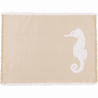 Sandy Seahorse Placemats - Set of 6