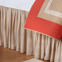 Sandy Stripes Bedskirt - Twin - OVERSTOCK