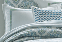 Santa Monica Embroidered King Sham - OVERSTOCK