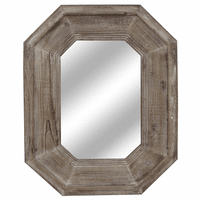 Sawyer Octagonal Wood Framed Mirror