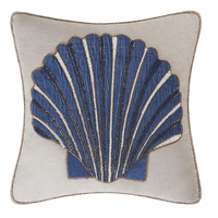 Scallop Shell Beaded Pillow