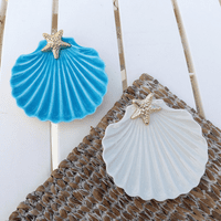 Scallop Shell Dish - Set of 2 - CLEARANCE