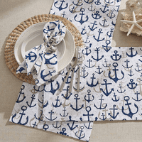 Scattered Anchors Table Linens