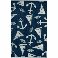 Scattered Sailboats Navy Rug Collection