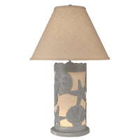 Scattered Shells Table Lamp with Nightlight - Gray