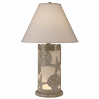 Scattered Shells Table Lamp with Nightlight - Tan